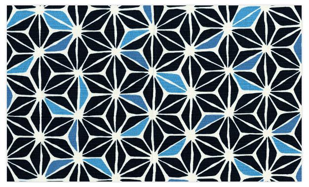 麻の葉(藍)拡大